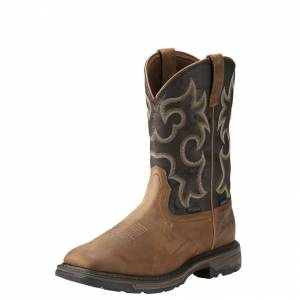 Ariat Workhog Wide Toe WP Insulated - Mens - Rye Brown/Coffee