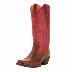 Ariat Round Up Stockyards - Ladies - Barnwood/Raspberry