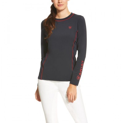 Ariat Cambria Logo LS Crew - Ladies - Navy