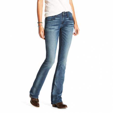 Ultra Stretch Satin Stitch Demi Boot Cut Jean - Ladies - Iced Indigo