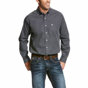 Ariat Wrinkle Free Uffner Print Shirt - Men's - Teal Extreme