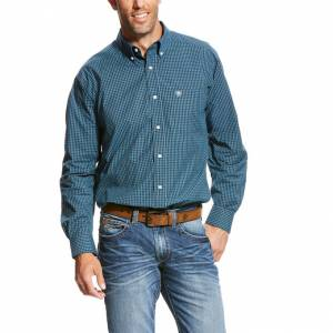 Ariat Vicini LS Perf Shirt - Men's - Deep Pacific