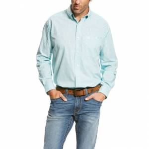 Ariat Vancaster LS Print Shirt - Men's - Hockney Pool
