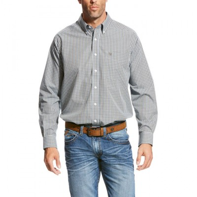 Ariat Wrinkle Free Ullerich Plaid Shirt - Mens - White
