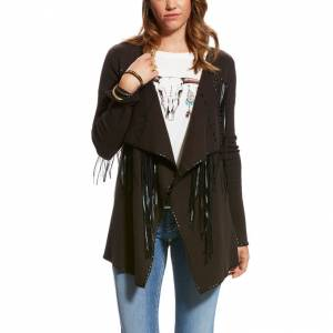 Ariat Trenton Cardigan - Ladies - Espresso