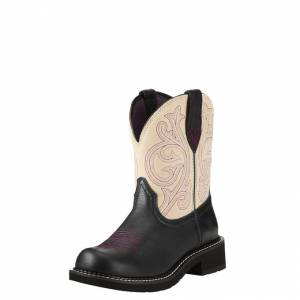 Ariat Fatbaby Heritage Boot - Ladies - Black /Cream