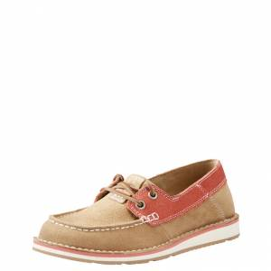 Ariat Cruiser Castaway Shoe- Ladies - Camel/Coral