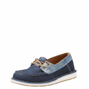 Ariat Cruiser Castaway Shoe - Ladies -  Navy/Ice Blue