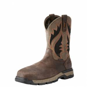 Ariat Rebar West VentTEK CT Boot - Mens - Brown