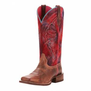 Ariat Circuit Shiloh - Ladies - Weathered Tan/Print Pink