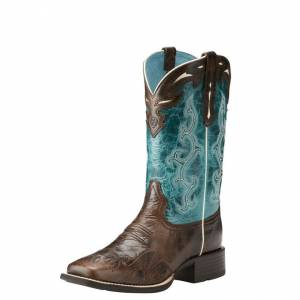 Ariat Sidekick Boot - Ladies - Chocolate Chip/Turquoise