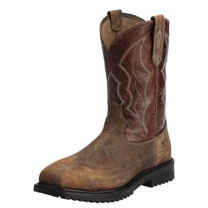Ariat Mens RigTek Wide Square Composite Toe Work Boots