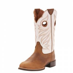 Ariat Ladies Round Up Stockman Western Boots
