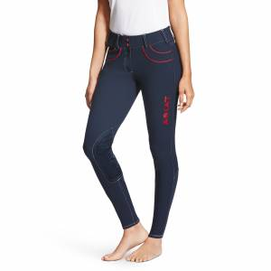 Ariat Ladies Olympia Acclaim Low-Rise Front Zip Knee Patch Breeches