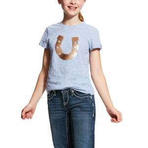 Ariat Kids Sequin Horse Shoe Tee