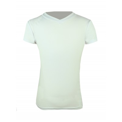 KAKI Short Sleeve V-Neck Exercise Shirt