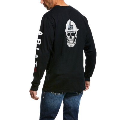 Ariat Mens Flame Resistant Roughneck Skull Logo Long Sleeve Shirt