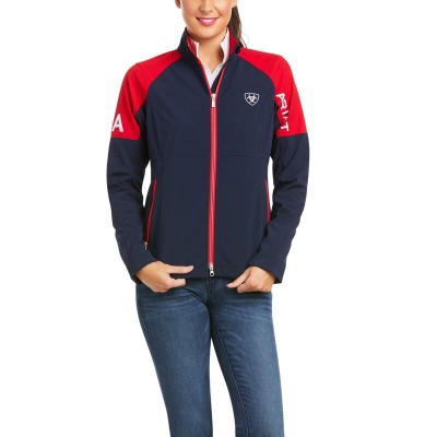 Ariat Ladies Global Softshell - USA Team Jacket