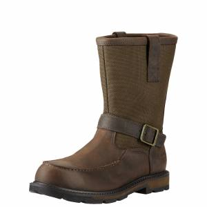 Ariat Mens Groundbreaker Moc Toe Waterproof Steel Toe Work Boots