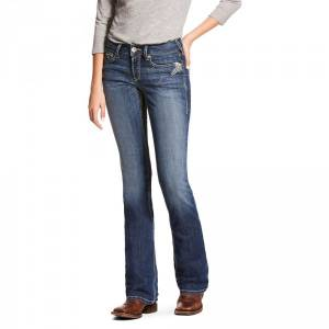 Ariat Ladies R.E.A.L. Mid Rise Stretch Shimmer Boot Cut Jeans