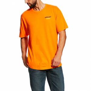 Ariat Mens Rebar Cotton Strong Logo T-Shirt
