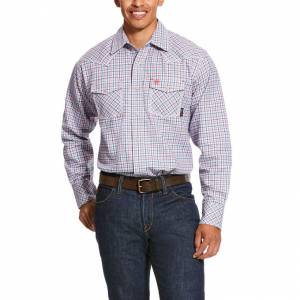 Ariat Mens FR Hartson Retro Fit Snap Work Shirt