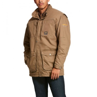 Ariat Mens Rebar Washed DuraCanvas Insulated Coat