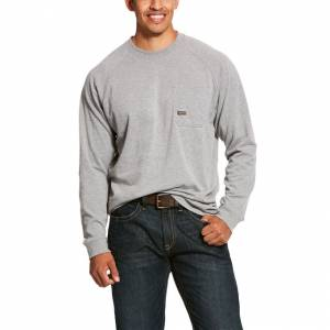 Ariat Mens Rebar Cotton Strong Long Sleeve T-Shirt