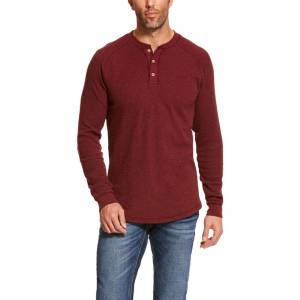 Ariat Mens Raglan Waffle Long Sleeve Shirt