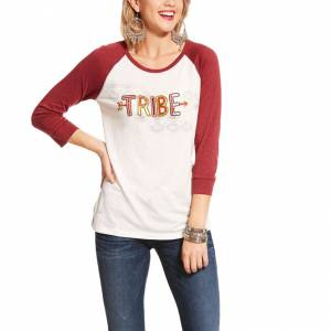 Ariat Ladies Tribe Raglan 3/4 Sleeve Top