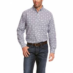 Ariat Mens Aikins Classic Fit Long Sleeve Shirt