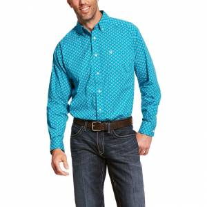 Ariat Mens Backren Stretch Classic Fit Long Sleeve Shirt