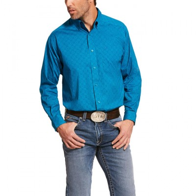 Ariat Mens Barrington Stretch Classic Fit Long Sleeve Shirt