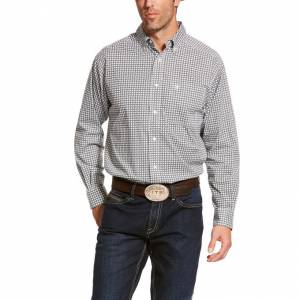 Ariat Mens Burbank Stretch Classic Fit Long Sleeve Shirt