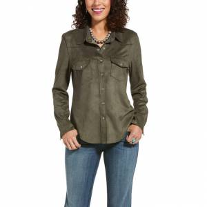 Ariat Ladies Serena Long Sleeve Suede Shirt