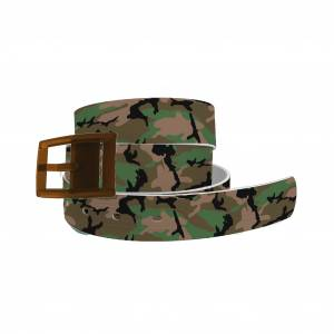 C4 Belt Kahki Camo Belt with Brown Buckle Combo