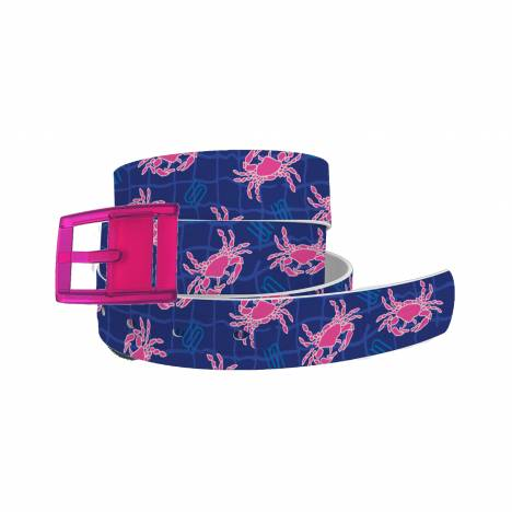 C4 Belt Spunkwear Navy Crab Belt with Hot Pink Buckle Combo