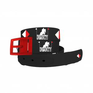C4 Belt Eventing Insanity Belt with Red Buckle Combo