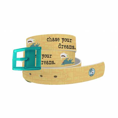 C4 Belt DIG Chase Your Dreams Belt with Turquoise Buckle Combo