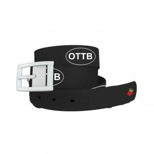 C4 Belt OTTB Black Belt with White Buckle Combo