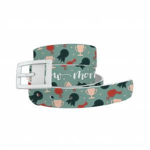 C4 Belt Show Mom Belt with White Buckle Combo