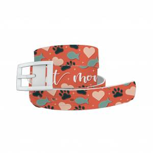 C4 Belt Cat Mom Belt with White Buckle Combo