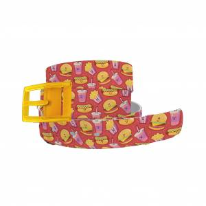 C4 Belt Fast Food Belt with Yellow Buckle Combo