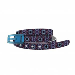 C4 Belt Skinny Purple Haze Belt with Baby Blue Buckle Combo