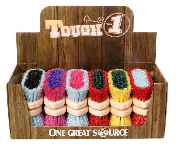 12 Pack Assorted Medium Poly Bristle Brush Bright Colors