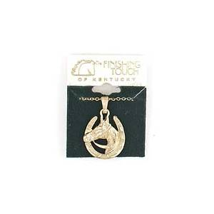 Finishing Touch Horseshoe with  Head Necklace