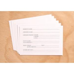 Tough-1 Replacement stall cards