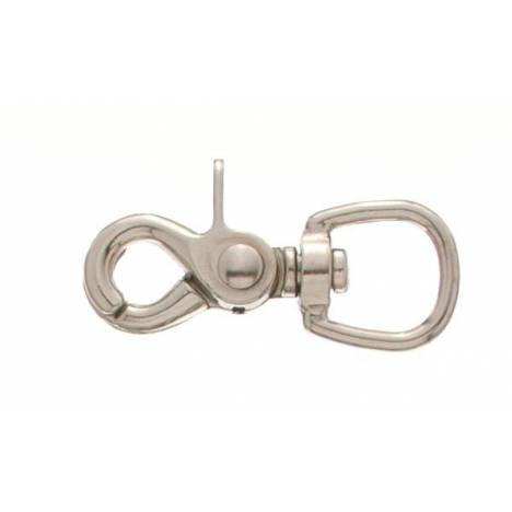Tough-1 Nickel Plated Swivel Oval Eye Rein Snap