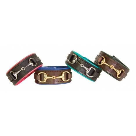 Perris Padded Leather Bit Bracelet