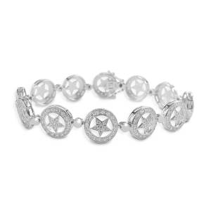 Kelly Herd Small Star Bracelet - Sterling Silver